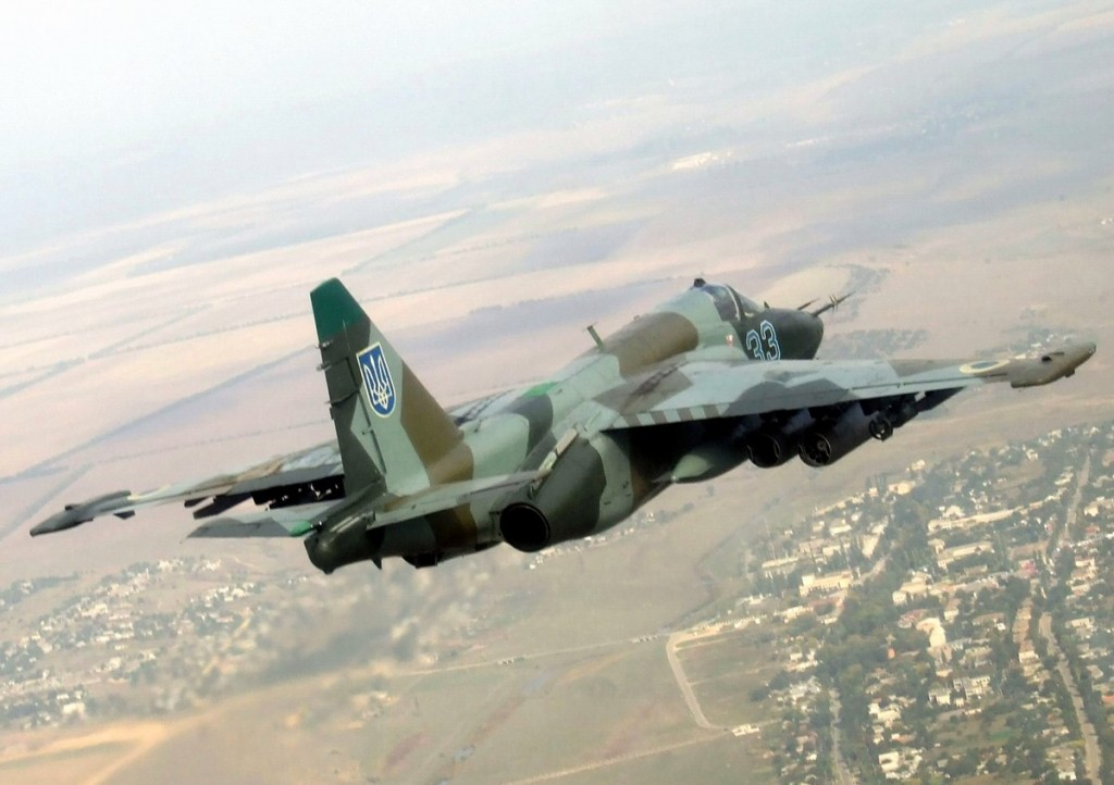 A Sukhoi 25 attack plane